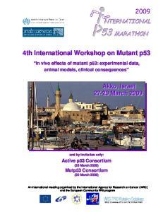 4th International Workshop on Mutant p53