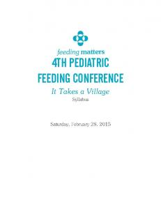 4TH PEDIATRIC FEEDING CONFERENCE