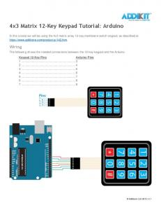 4x3 Matrix 12-Key Keypad Tutorial: Arduino