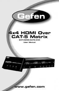 4x4 HDMI Over CAT-5 Matrix