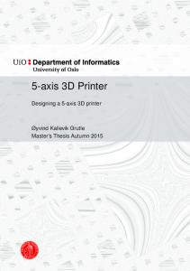 5-axis 3D Printer. Designing a 5-axis 3D printer