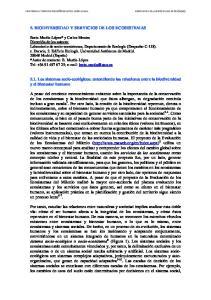 5. BIODIVERSIDAD Y SERVICIOS DE LOS ECOSISTEMAS