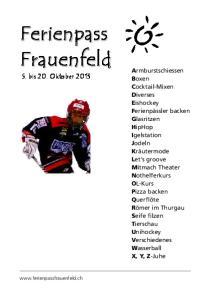 5. bis 20. Oktober 2013