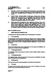 5 Car Parking Licence THIS AGREEMENT is made the day of 2006 BETWEEN: