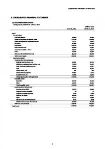 5. CONSOLIDATED FINANCIAL STATEMENTS