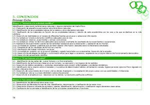 5. CONTENIDOS Primer Ciclo
