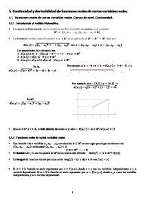5 Continuidad y derivabilidad de funciones reales de varias variables reales