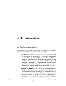 5. CPU Implementation