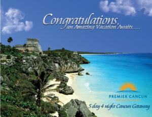 5 day 4 night Cancun Getaway