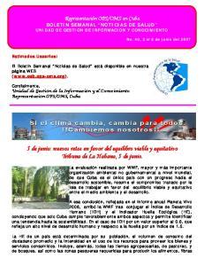 5 de junio: nuevos retos en favor del equilibro viable y equitativo Tribuna de La Habana, 5 de junio
