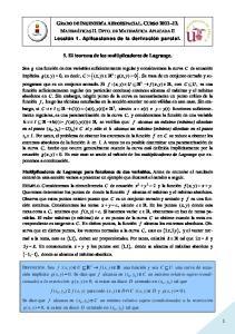 5. El teorema de los multiplicadores de Lagrange