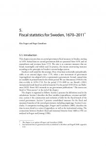 5. Fiscal statistics for Sweden, *