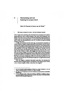 5 Harmonising tort law