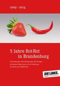 5 Jahre Rot-Rot in Brandenburg