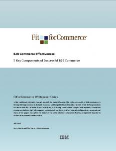 5 Key Components of Successful B2B Commerce