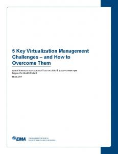 5 Key Virtualization Management Challenges and How to Overcome Them