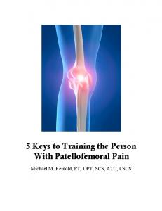 5 Keys to Training the Person With Patellofemoral Pain