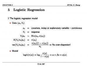 5 Logistic Regression