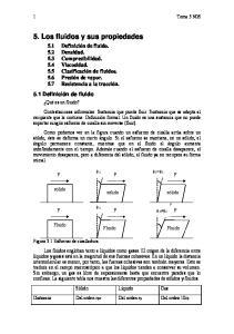 5. Los fluidos y sus propiedades