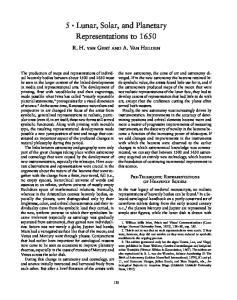 5 Lunar, Solar, and Planetary Representations to 1650