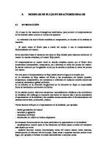 5. MODELOS DE FLUJO EN REACTORES REALES