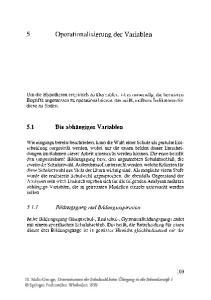 5 Operationalisierung der Variablen