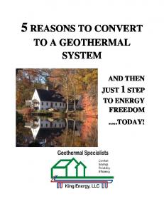 5 REASONS TO CONVERT TO A GEOTHERMAL SYSTEM