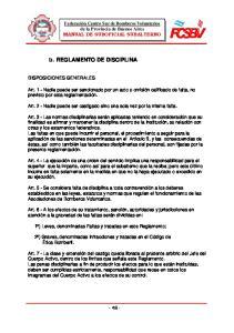 5. REGLAMENTO DE DISCIPLINA