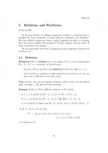 5 Relations and Partitions