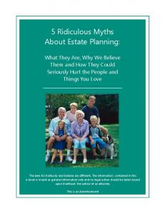 5 Ridiculous Myths About Estate Planning: