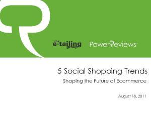 5 Social Shopping Trends