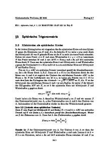 5 Sphärische Trigonometrie