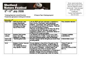 5 th -12 th July 2008