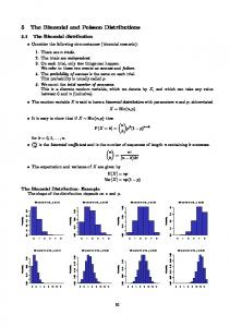 5 The Binomial and Poisson Distributions