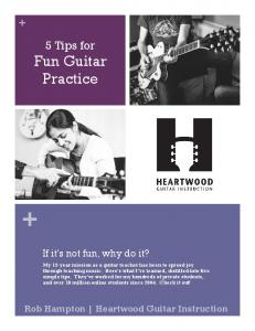 5 Tips for Fun Guitar Practice