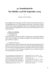 50. Dombaubericht Von Oktober 2008 bis September 2009