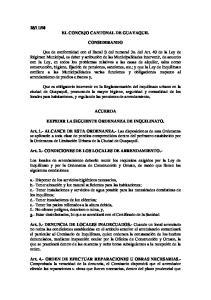 50 EL CONCEJO CANTONAL DE GUAYAQUIL CONSIDERANDO