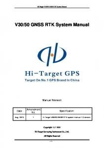 50 GNSS RTK System Manual