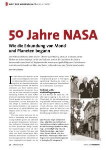 50 Jahre NASA. Wie die Erkundung von Mond und Planeten begann. Welt der Wissenschaft: Raumfahrt