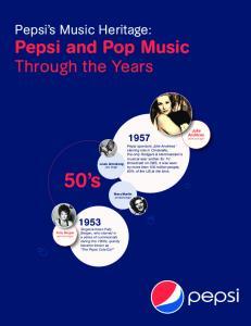 50 s. Pepsi and Pop Music. Through the Years. Pepsi s Music Heritage: