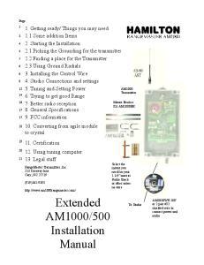 500 Installation Manual