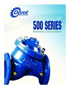 500 SERIES. Automatic Control Valves