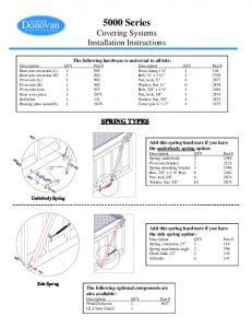 5000 Series Covering Systems Installation Instructions