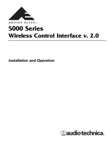 5000 Series. Wireless Control Interface v Installation and Operation