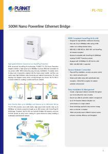 500M Nano Powerline Ethernet Bridge