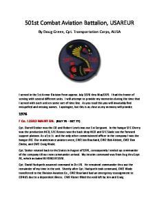 501st Combat Aviation Battalion, USAREUR