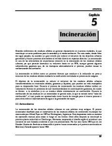 5.1 Antecedentes 5.0 INCINERACIÓN SEDESOL