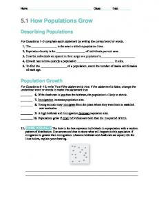 5.1 How Populations Grow