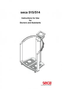 514 Instructions for Use for Doctors and Assistants