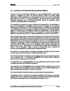 5.1.4 SUELOS Y CAPACIDAD DE USO MAYOR DE TIERRAS